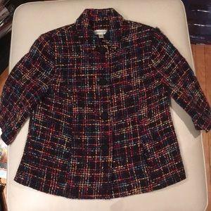 Coldwater Creek Tweed Black/Multi Jacket